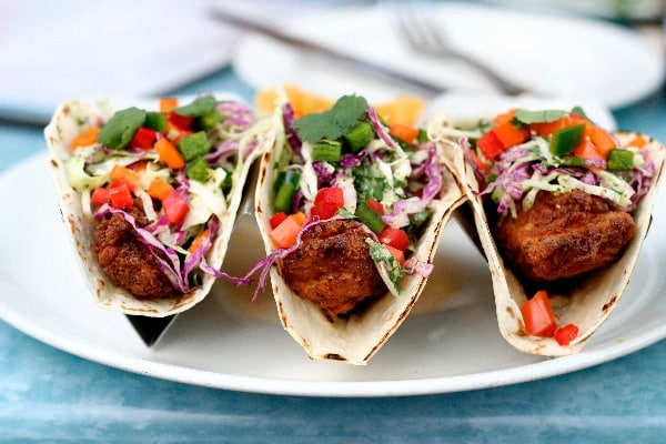 Fish tacos dockside dining