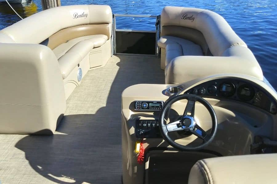 Bentley pontoon spacious bow seating