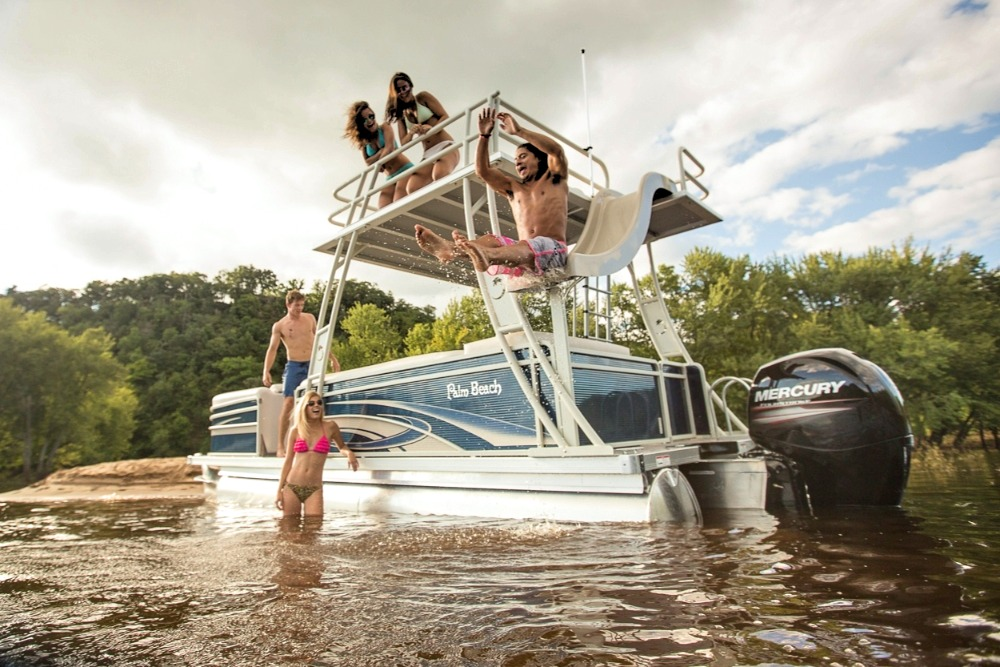 Palm Beach Slide Pontoon Boat